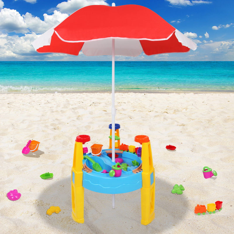 Water Play Table with Umbrella - Factory Direct Oz