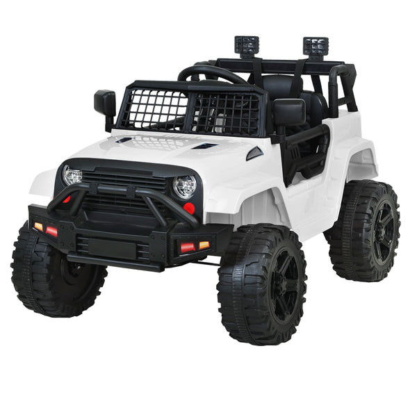 Rigo Kids Ride On Electric Jeep - White