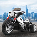Rigo Kids Ride On Motorbike - Black & White - Factory Direct Oz