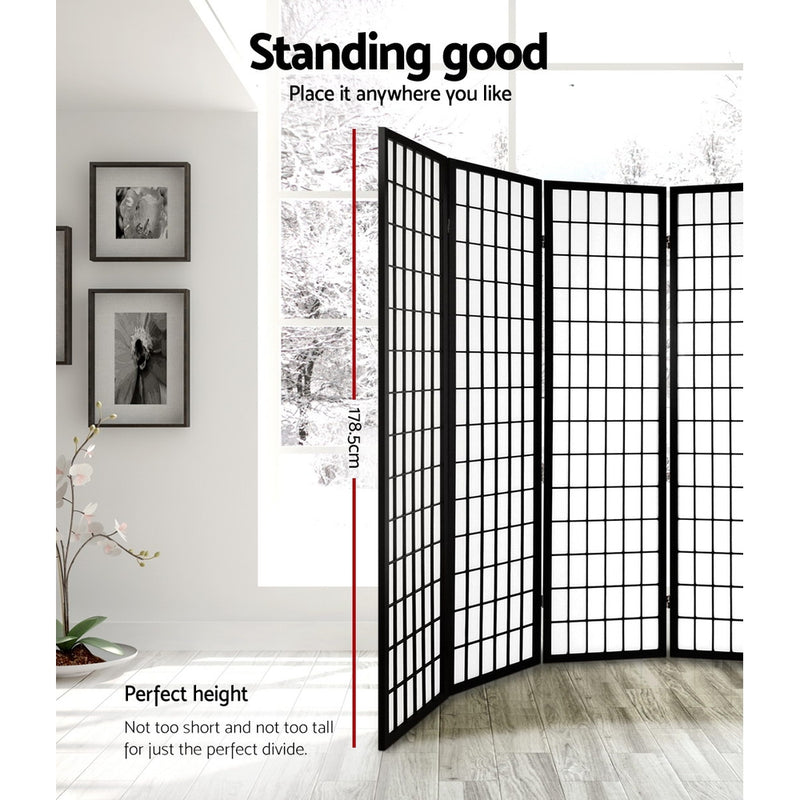 Artiss 6 Panel Room - Black - Factory Direct Oz