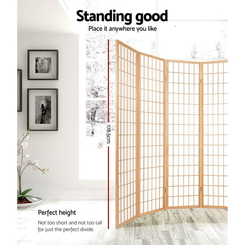 Artiss 6 Panel Room - Natural - Factory Direct Oz