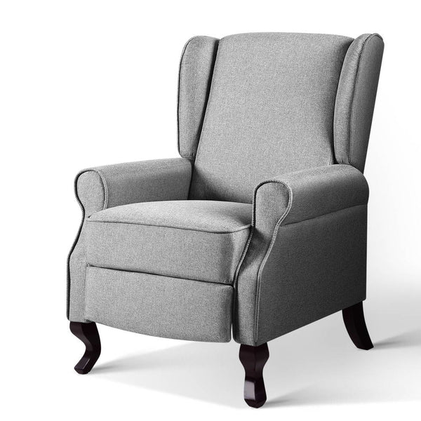 Artiss Luxury Recliner Armchair - Grey - Factory Direct Oz