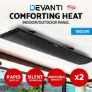 Devanti 2 x 1800W Electric Radiant Strip Heater - Factory Direct Oz