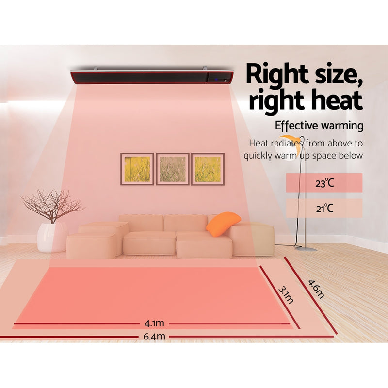 2X 3200W Electric Infrared Radiant Heater w/ Remote Control - Factory Direct Oz