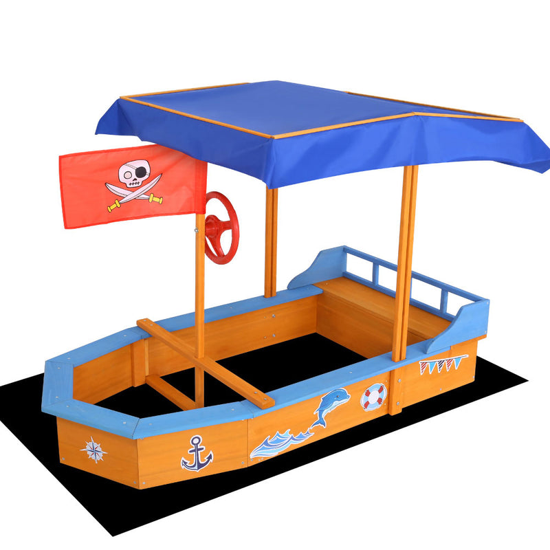 Boat-shaped Sand Pit + Canopy - Factory Direct Oz