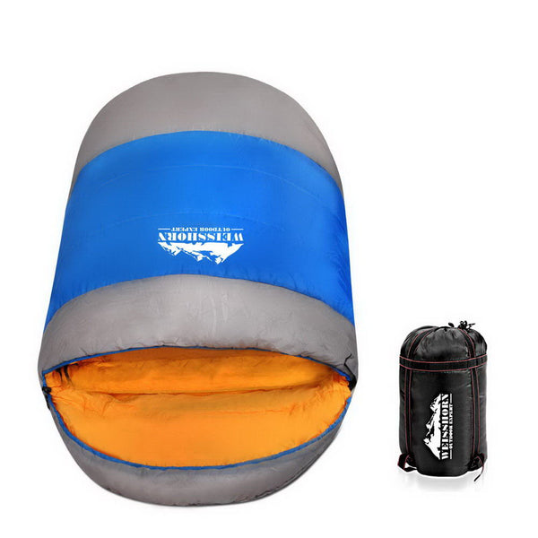 Weisshorn Extra Large Sleeping Bag - Blue & Grey - Factory Direct Oz