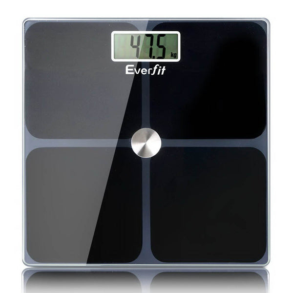 Everfit Electronic Digital Body Weight Scale - Black - Factory Direct Oz