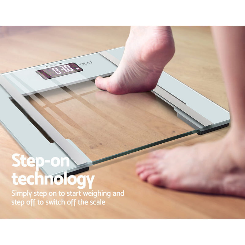 Everfit Electronic Digital Body Fat Scale - White - Factory Direct Oz
