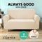 Artiss 2 Seater High Stretch Sofa Cover - Sand - Factory Direct Oz