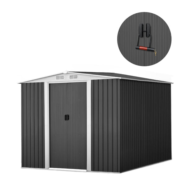 GIANTZ 2.57 x 2 x 2M Metal Garden Shed - Factory Direct Oz