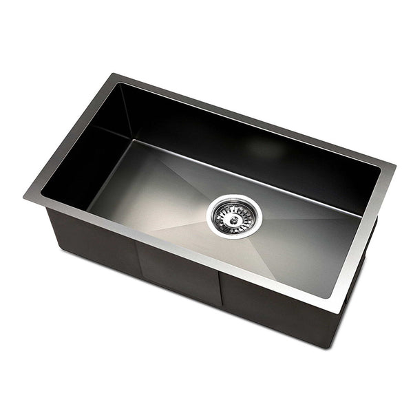 Cefito 450 x 300mm Stainless Steel Sink - Black - Factory Direct Oz