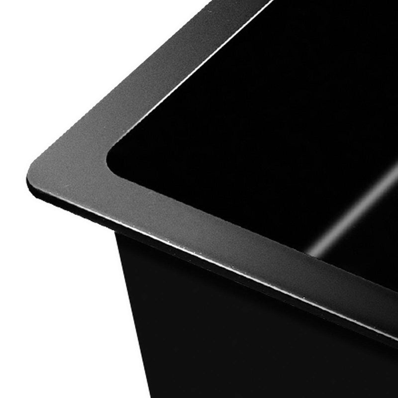 Cefito 860 x 500mm Granite Stone Sink - Black - Factory Direct Oz