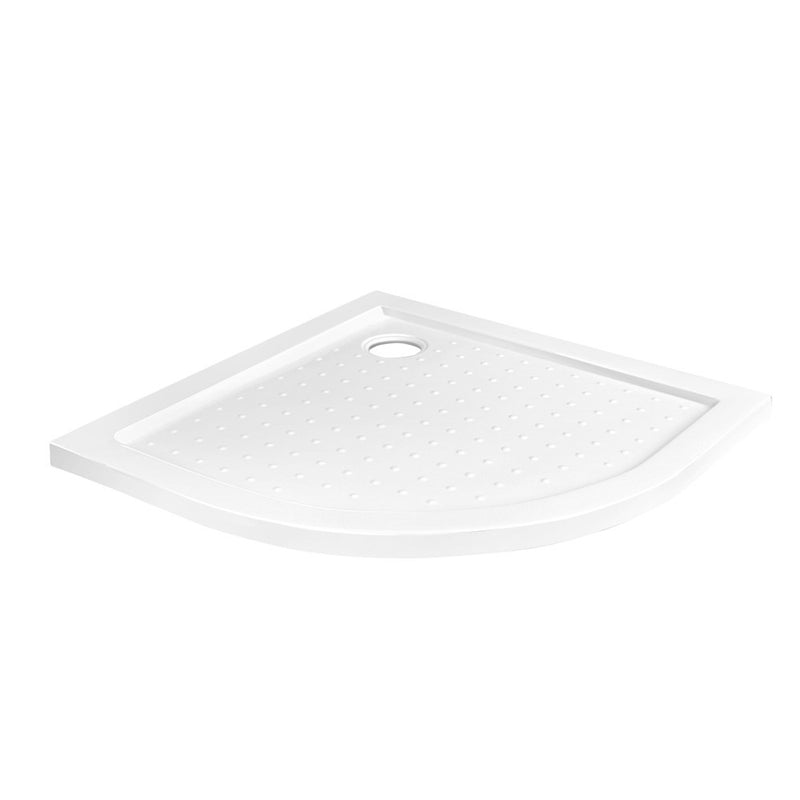 Cefito Acrylic Curved Shower Base  900x900mm - White - Factory Direct Oz