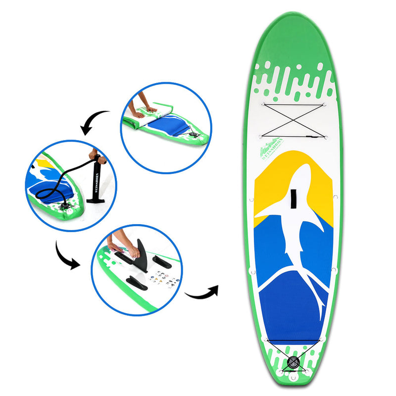 Weisshorn 10FT Inflatable Stand Up Paddle Board - 10cm Thickness - Factory Direct Oz