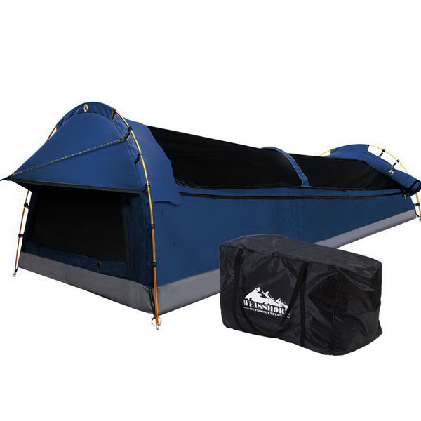 Weisshorn Deluxe Double Swag - Dark Blue - Factory Direct Oz