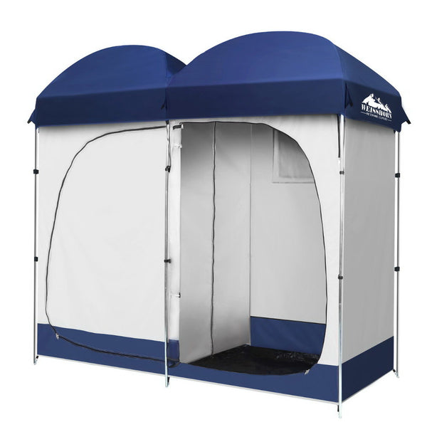Weisshorn Camping Shower Tent - Double - Factory Direct Oz
