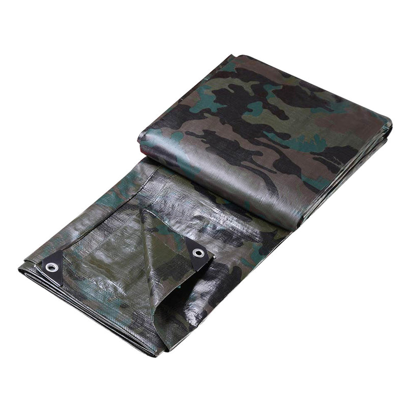 Instahut 3.6x6m Camouflage Heavy Duty Tarp - Factory Direct Oz