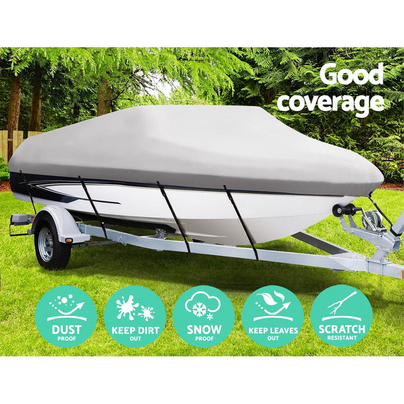 14 - 16 Foot Waterproof Boat Cover - Grey - Factory Direct Oz