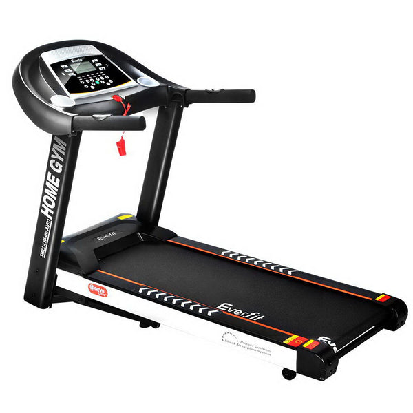 Everfit Electric Treadmill 45cm Incline Running Home Gym Fitness Machine Black - Factory Direct Oz