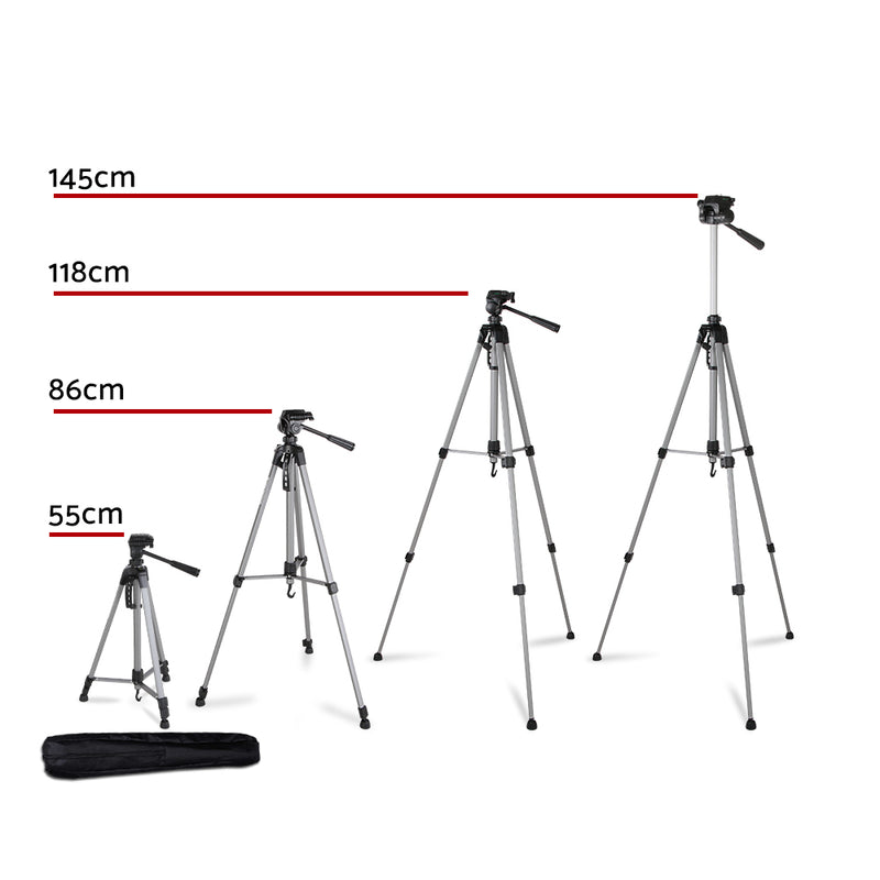 Weifeng 1.45M Professional Camera & Phone Tripod - Factory Direct Oz