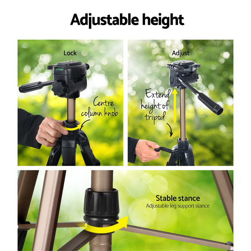 Weifeng 160cm Dual Bubble Level Tripod - Factory Direct Oz