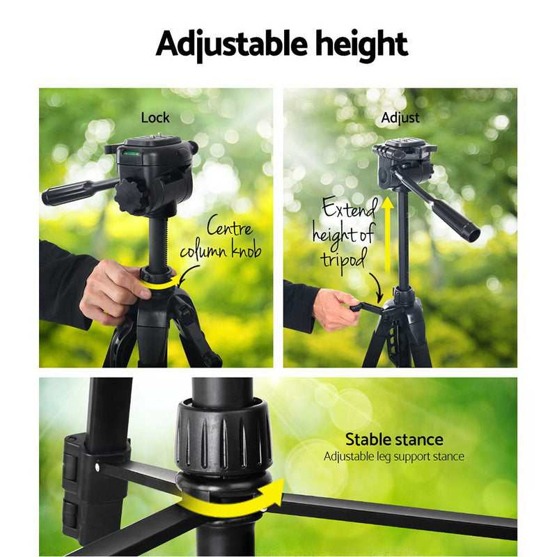 Weifeng 160CM Professional Camera Tripod - Factory Direct Oz