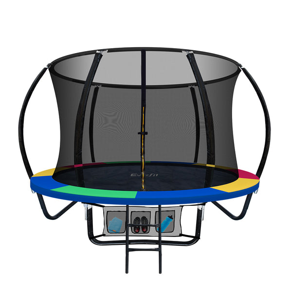 Everfit 8FT Trampoline - Rainbow - Factory Direct Oz
