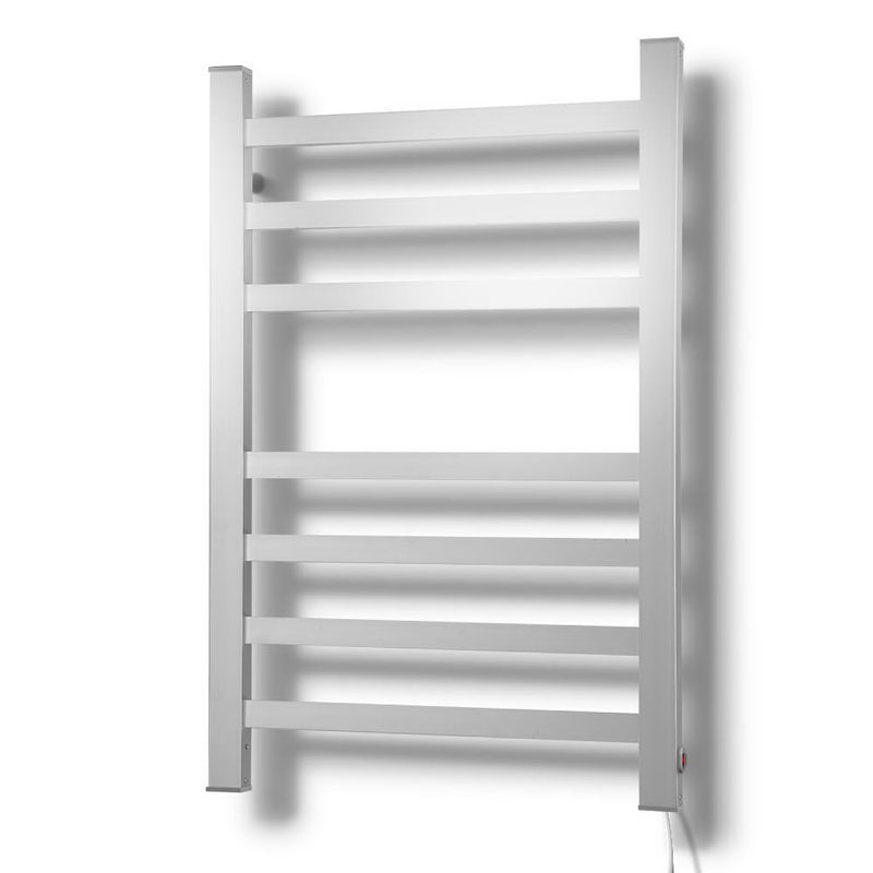 DEVANTI 7 Rack Heated Towel Rail - Square Aluminium Bars - Factory Direct Oz