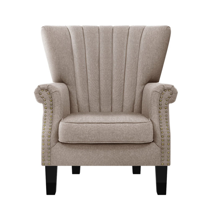 Artiss Armchair Accent Chair - Beige - Factory Direct Oz