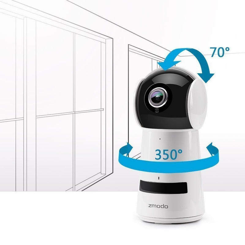 Zmodo Wireless 1080p Pan Tilt Smart HD WiFi IP Two-Way Audio Camera Night Vision - Factory Direct Oz