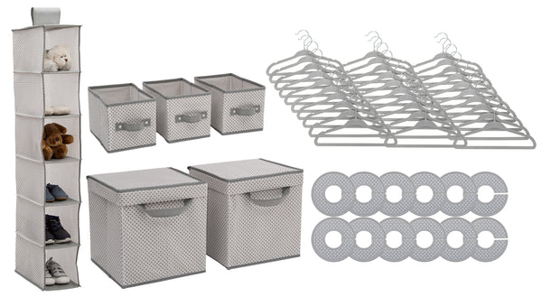 48 Piece Nursery Storage Set - Cool Grey - Factory Direct Oz