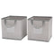 2 Piece Storage Cube Set - Cool Grey - Factory Direct Oz