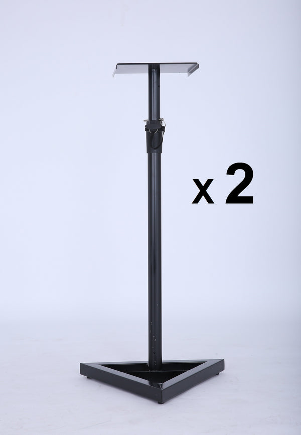 2X PA Studio Monitor Speaker Floor Stand - Factory Direct Oz