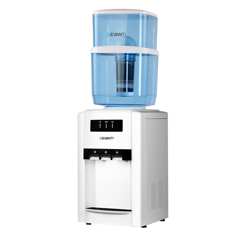 Devanti 22L Bench Top Water Cooler w/ 2 Replacement Filters - Factory Direct Oz