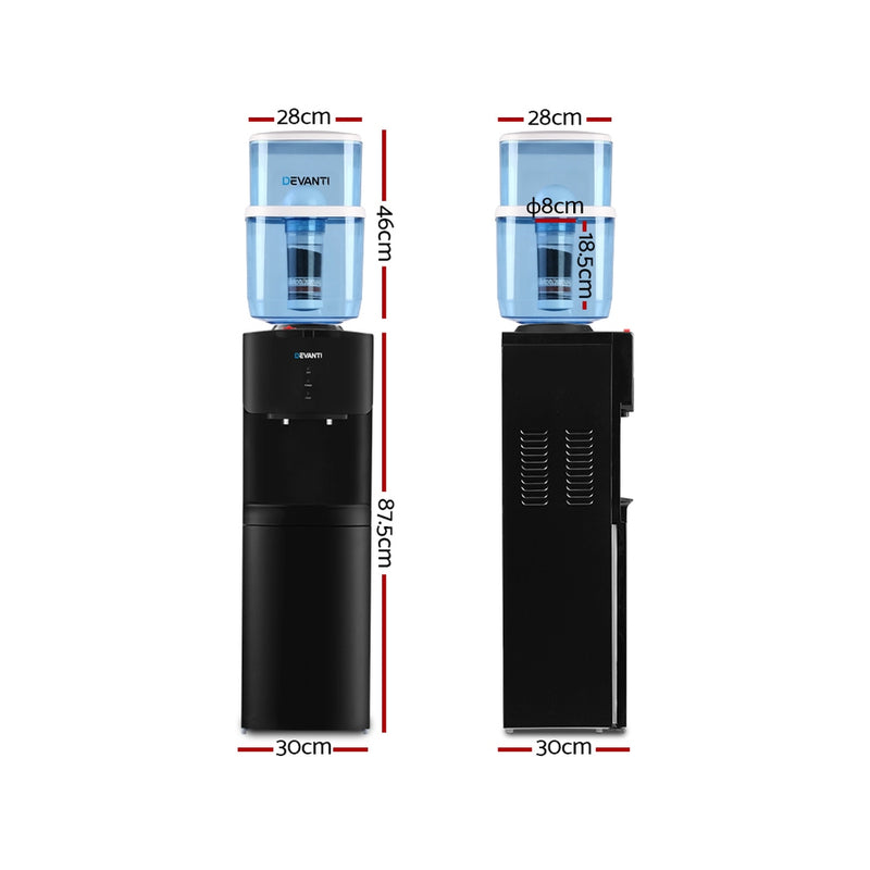 Devanti Water Cooler - Black - Factory Direct Oz