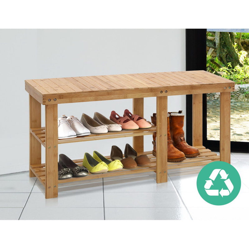 Artiss Bamboo Shoe Rack - Factory Direct Oz