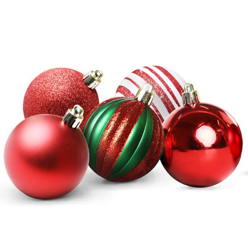 Jingle Jollys 50pcs Christmas Baubles - Red - Factory Direct Oz