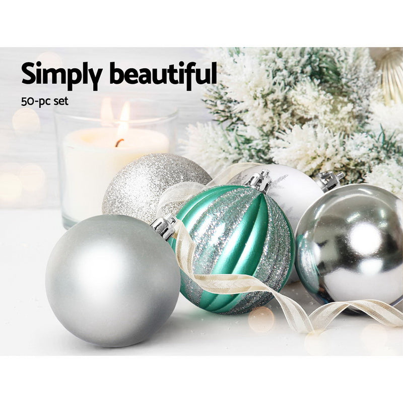 JingleJollys 50pcs Christmas Decorations - Silver - Factory Direct Oz