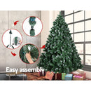 Jingle Jollys 6FT Christmas Snow Tree - Factory Direct Oz