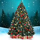 Jingle Jollys 7FT Christmas Snow Tree - Factory Direct Oz