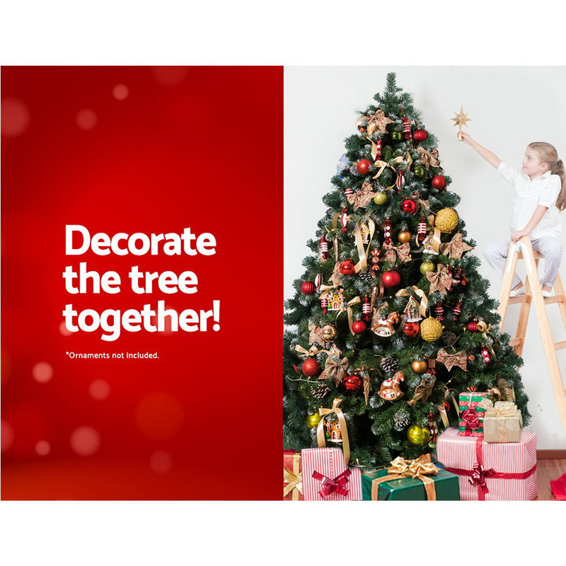 Jingle Jollys 8FT Christmas Snow Tree - Factory Direct Oz