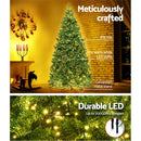 Jingle Jollys 1.8M/6FT 874 LED Christmas Tree - Warm White - Factory Direct Oz