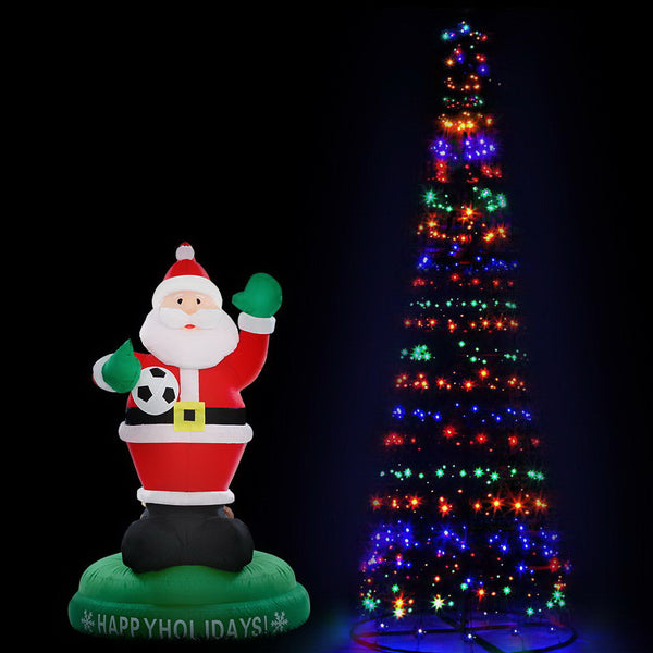 Jingle Jollys 3.6M LED Christmas Tree & Inflatable Santa Set - Factory Direct Oz