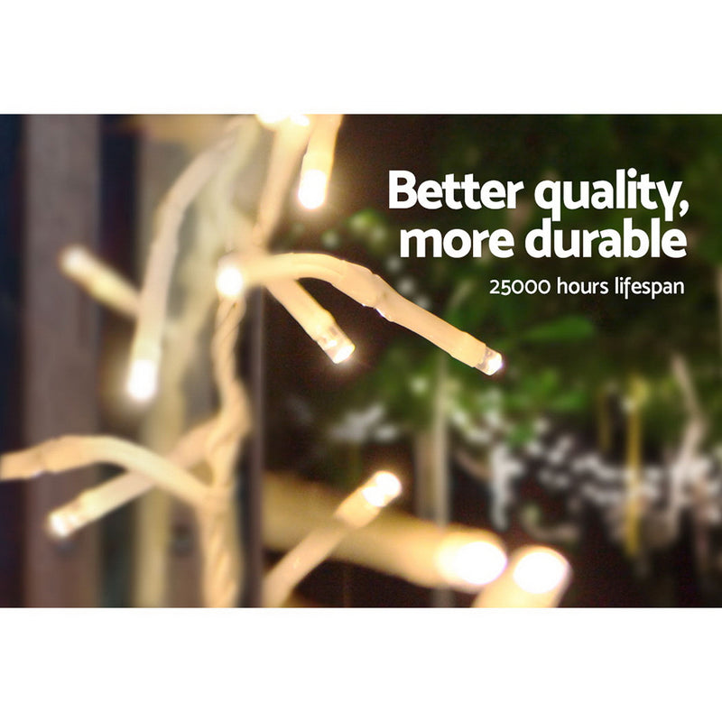 Jingle Jollys 500 LED Christmas String Fairy Lights - Warm White - Factory Direct Oz