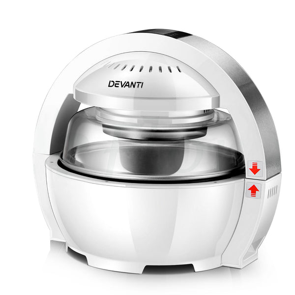 Devanti 13L Air Fryer Oven Cooker - White - Factory Direct Oz