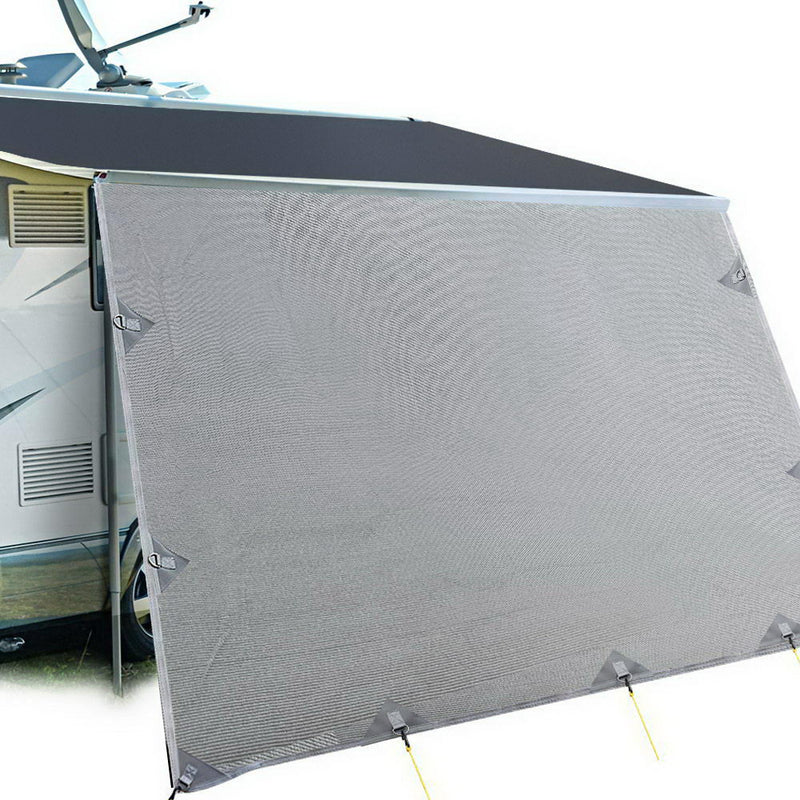 Caravan Privacy Screen 4.9 x 1.8m - Grey - Factory Direct Oz