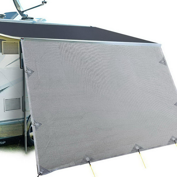 Caravan Privacy Screen 5.2 x 1.8m - Grey - Factory Direct Oz