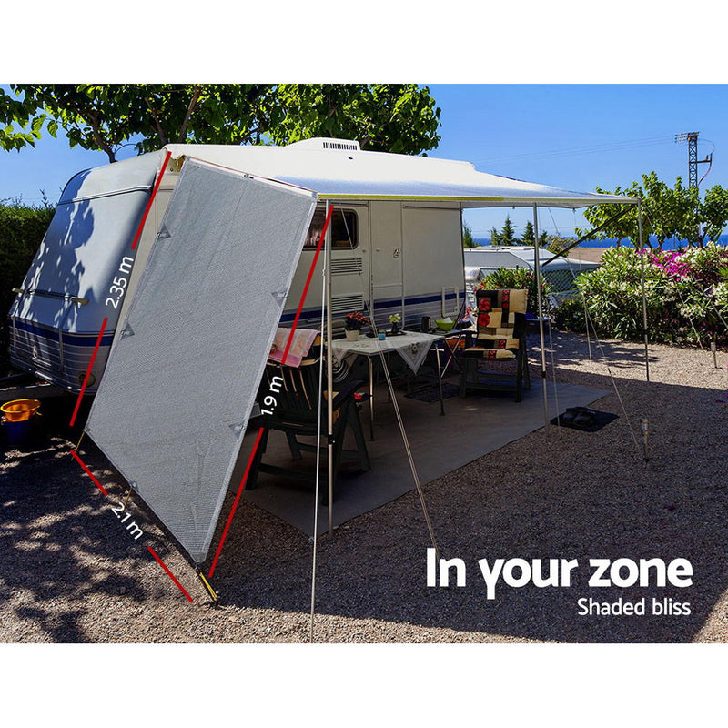 Caravan Privacy End Wall - Grey - Factory Direct Oz