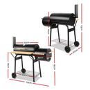 2-in-1 Offset BBQ Smoker - Factory Direct Oz