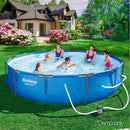 Bestway 12' Above Ground Swimming w/ Pool Filter Pump - Factory Direct Oz